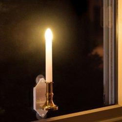 Lampada da parete romantica chiara tremula autoalimentata solare dell'indicatore luminoso di notte della lampada da parete della finestra della candela con le tazze di aspirazione, decorazione per il festival stagionale