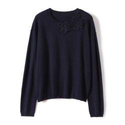 Form-Damen strickten Pullover mit Handhäkelarbeit-Kleidung
