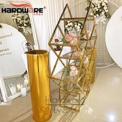 Aço inoxidável luxuosa decoração de Casamento Prateleira Wine Bar