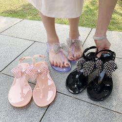 L'été cristal de diamant Multi-Color Bow sandales Fashion femmes durable Outdoor chaussures en PVC occasionnels Femmes sandale