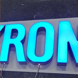 3D Carta luminoso LED Scrim Palavra para nome de vitrines de canal