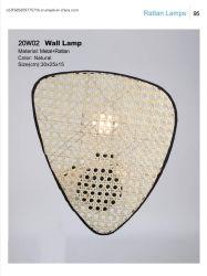 مصباح حائط من خشب الروطان للبيع الساخن للديكور المنزلى وديكور الفندق