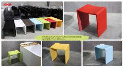 Fabrik-Preis-Schemel-Form-Stein im weißen festen Oberflächenschemel-Badezimmer-Schemel-Badezimmer-Dusche-Mattsitz