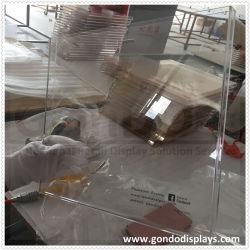 Pop Transparent Magazine Catalogi Frame Pic E Closeup Clear Acryl Casus weergeven