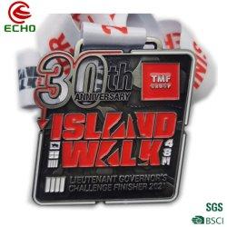 Personalizada de Fábrica de eventos desportivos de Taekwondo Medalhão de metais de liga de zinco 3D maratona do logotipo Medal of Honor com corda