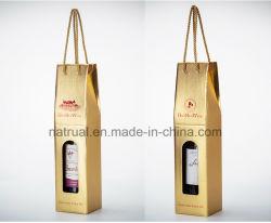 Das kundenspezifische Drucken-Größen-Verpacken runzelt farbenreichen Papierkasten-Wein