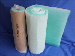 Piso de cabina de rociado de filtro de aire Filtro de fibra de vidrio