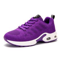 Mode Femmes Sneakers chaussures running chaussures de sport de plein air respirable Confort filet à mailles de jogging Chaussures dentelle coussin d'air jusqu'Mesdames