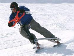 Deportes Extremos Descenso Vehículo de Nieve Esquí Scooter 3 Trineo de Ruedas