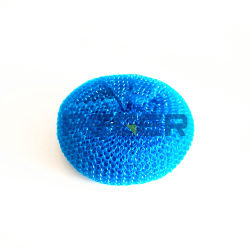 Éponge en plastique Scourer maille boule de nettoyage Scrubber évier de cuisine