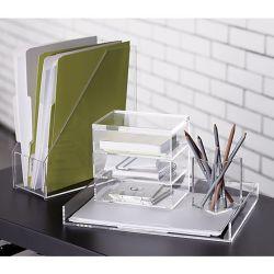 Formato de caixas de papelaria de empilhamento de acrílico configurado