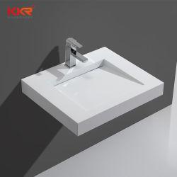 슬로프 인공 석재 벽 장착형 욕실 솔리드 표면 세면대