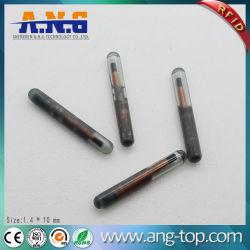 125kHz em4305 Micro Tag de vidro para rastreamento de animais com seringa