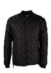 Rib Knit Collar가 있는 남성용 퀼티드 프리져 재킷
