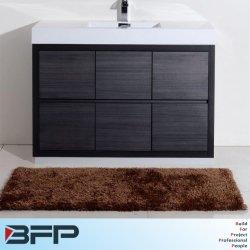Madeira moderno na cor preta vaidade armário de banheiro armários para venda