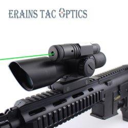 Il reticolo verde rosso compatto del Mil-PUNTINO di 2.5-10X40 Riflescope ha attaccato il laser verde con il supporto standard della guida del tessitore