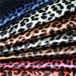 3138 à moda de Grãos Leopard PU Syntheitc Couro para acessórios de moda
