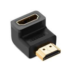 O HDMI 90 graus de ângulo direito de Ouro de adaptador macho para HDMI de alta velocidade do Adaptador do Conector Fêmea