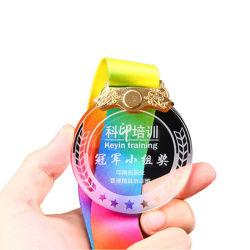 Personalizado para prémio e Dom e loja de gravura de vidro Medalha de Cristal