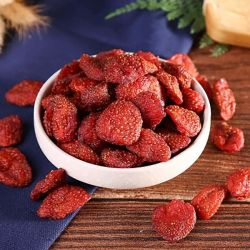 Keine Zuckernatürlichen gefriertrockneten vollständigen Erdbeere-Frucht-Scheiben und Chips