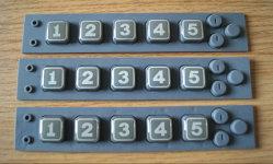 プラスチックカバー(P+R)が付いている数字Button/OEMのゴム製数字ボタンまたはシリコーンゴムのキーパッド