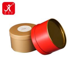 Упаковка утюг в салоне для приготовления чая и малый красный желтый раунда металла с хранения пользовательских бумажный ярлык логотип Stikcer случаев