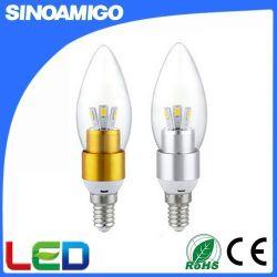 3W 100 lm/W высокое качество светодиодная свеча лампа хвостатых типа