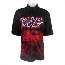 Commerce de gros sublimé Custom Pit Crew Shirts Racing à la promotion de l'usure