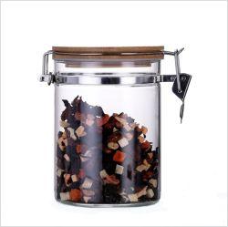 Бамбук крышками с хомута из нержавеющей стали высококачественных стеклянных бутылок
