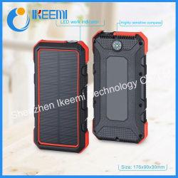 Deux ports USB chargeur de batterie solaire chargeur portatif de plein air 24000mAh Chargeur de téléphone avec LED