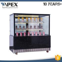 Apex pastel eléctrico refrigerador Vitrina Vitrina con luz LED