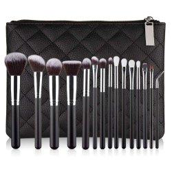 15 ПК макияж набор щеток Premium синтетических для косметических Foundation смешивания порошка и несерьезным окрашивание Concealers тени прочного