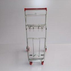 """4"""" PU 휠 저렴한 쇼핑 트롤리 바구니 보관 트롤리"""