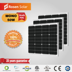 50W China Fabricante Mono 12VDC Solar Painel PV
