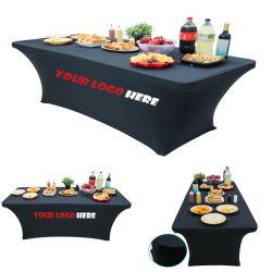 カスタムロゴは展示会のためのスパンデックスのテーブル掛けの伸張を印刷した