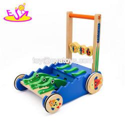 幼児W16e059のためのおもちゃに沿う新しいデザイン漫画のワニの木押し
