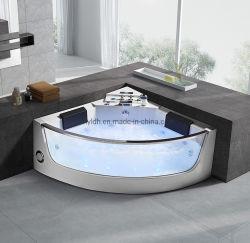 Diseño de la esquina Woma vender burbuja caliente masajes SPA, bañera con luz LED (Q322N)