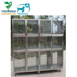 Acero inoxidable 304 Veterianry médico veterinario de animales de jaula de mascota de la clínica