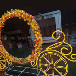 Parc montrent la fleur d'éclairage Wagon Motif de conception 2D de lumière LED de décoration de Noël