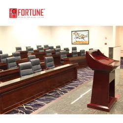Деревянные Конференции размер таблицы длинный прямоугольный кафедре подиума с трибуны