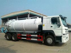 Nuovi o della pompa 18m3 camion di HOWO/camion settici utilizzati di aspirazione acque luride di vuoto