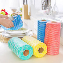 Nh Professional Produto de limpeza doméstica do Rolo do pano de cozinha de microfibras descartáveis para venda por grosso
