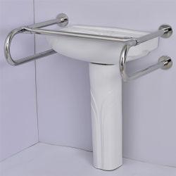 Barra di gru a benna di alluminio del bacino dell'acciaio inossidabile delle barre di gru a benna della stanza da bagno della toletta di handicap della maniglia del tubo della stanza da bagno per Wn-S11 anziano