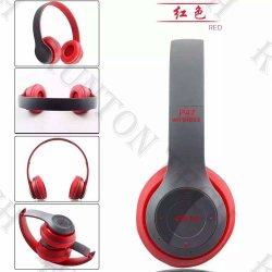 P47 de banda sem fio com fio dobrável TF SD Bluetooth auscultadores MP3