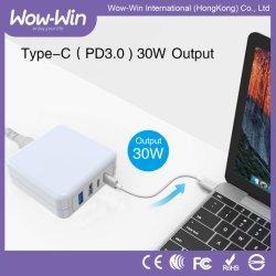 4 porte 63W si raddoppiano Tipo-c caricatore con l'adattatore di potere QC3.0