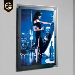 Super mince cadre photo photo de profil en aluminium signe avec panneau composite en plastique