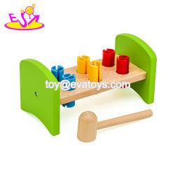 Novo design do ensino precoce de brinquedos de madeira bronze definido para o bebé W11G054