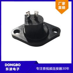 2p DIN plugue RCA, Panel Mount, AV/ conector do cabo de áudio