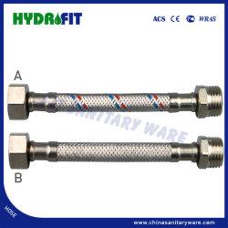 アルミニウム編み上げホースウーブンホースレッドブルーワイヤ 1/2 、 3/4 FM ( HY6401 )