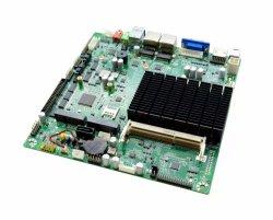 لوحة أم لا يوجد بها مروحة، لوحة أم DC Mini ITX 12 فولت، LVDS، EDP، HDMI، VGA، 6 RS232